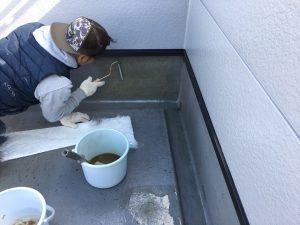 防水塗装 プライマー下塗り