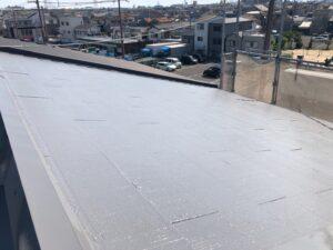 屋根の仕上がりの様子