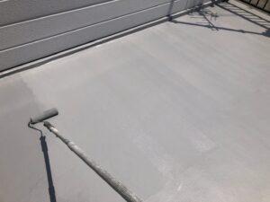 屋上の防水塗装も完了