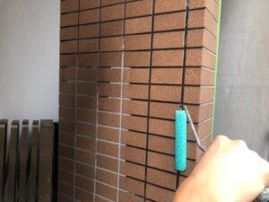 タイル面も撥水塗装を二層入れてすべての作業が完工